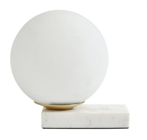 Marble Table Lamp With Frosted Glass