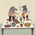 Dancing Animals Postcard