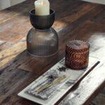 Vase/Candleholder Black/Grey Medium
