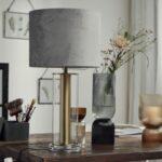 Vase/Candleholder Black/Grey Tall