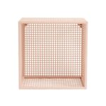 Wire Wall Box Light Pink